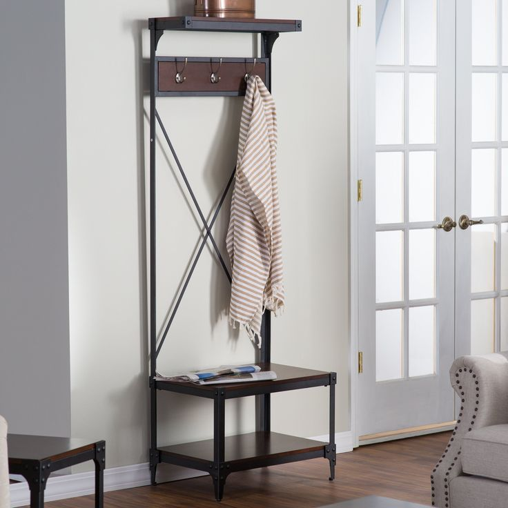Belham Living Trenton Small Entry Hall Tree - You don't need a contractor or a trip to the hardware store to give your entryway a makeover when you add the Belham Living Trenton Small Entry Ha...