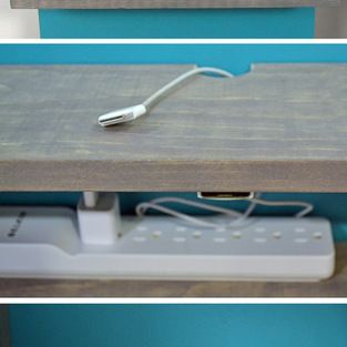 Diy Shelf Charging Station Installed On A Panel To Hide