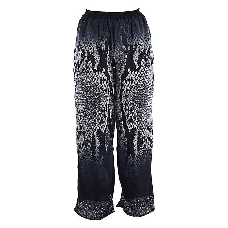 LONG TROUSERS IN BLACK PRINT MEDIUM - Trousers-Shorts - Clothes