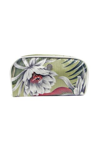 Laminated Cosmetic Bag in Olive by Escape to Paradise