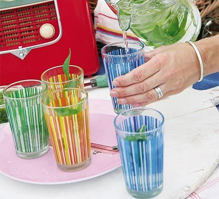 Fruity white wine punch. The best way we know to brighten up a bottle of wine in the summer, and the perfect picnic drink