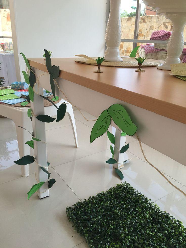 Decoración mesa central #tabledecor #treetheme