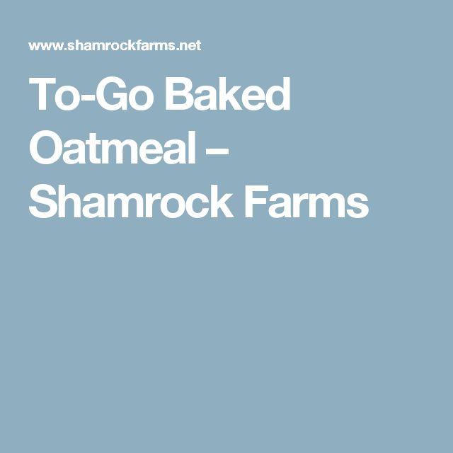 To-Go Baked Oatmeal – Shamrock Farms