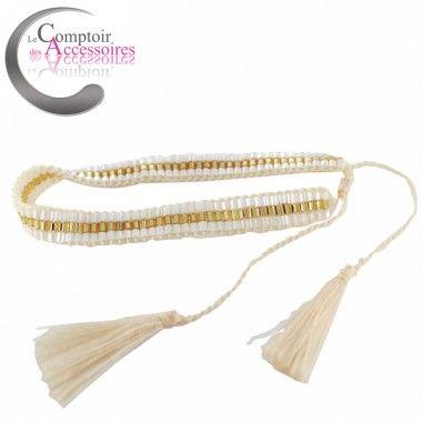 Bracelets Hippie Chic, bohème perles écrue beige #bracelets #boheme #hippie #bali http://www.comptoirdesaccessoires.com/6914-3282-thickbox/bracelet-hippie-chic-esprit-boheme-pour-ce-bracelet-de-perles-enlacees-couleurs-beige-.jpg