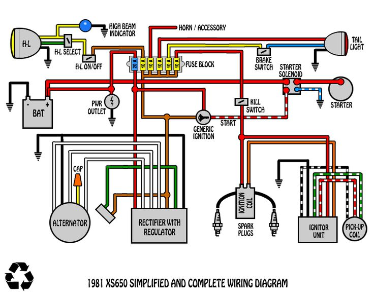 Best motorcycle wiring diagram images on pinterest