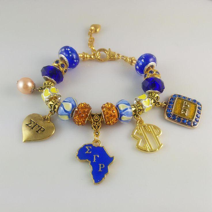 Sigma Gamma Rho Charm Bracelet