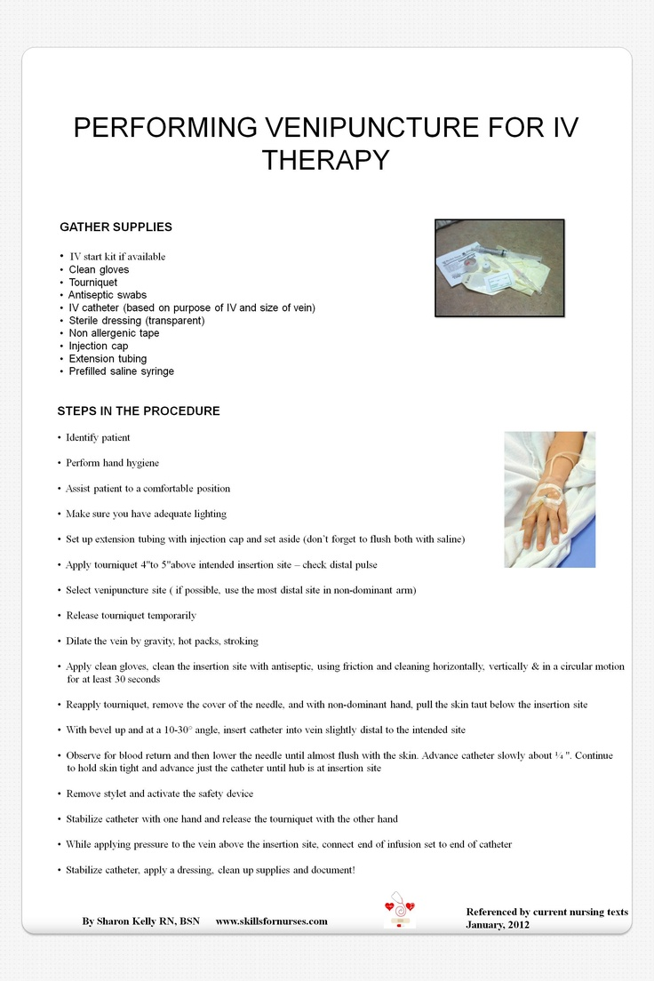"""This poster can be used as a teaching tool in a nursing lab or any medical facility. It is also a good tool for reviewing the skill. It can be printed 24""""x36"""" or printed smaller for handouts. $1.00 for purchase on www.teacherspayteachers.com"""