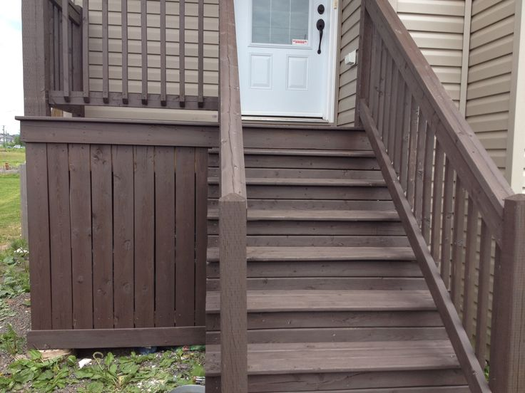 Front deck stained