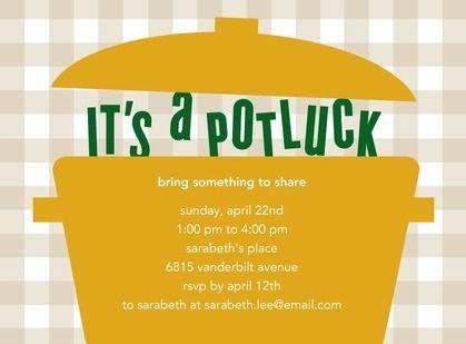 Potluck party invites
