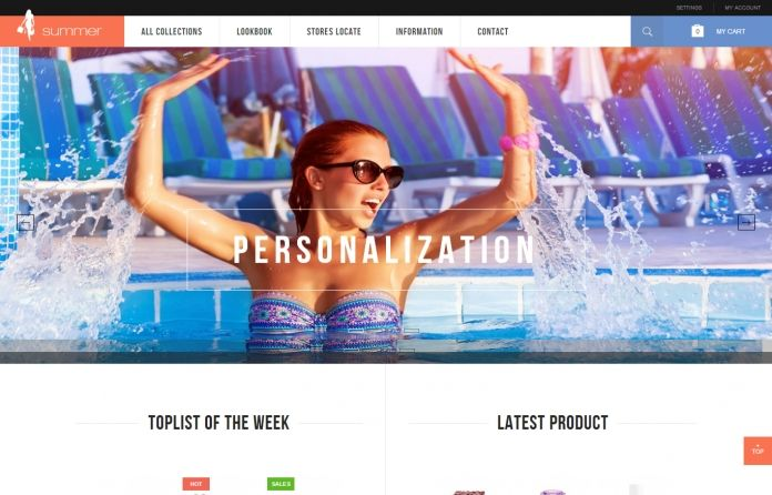 JM Summer - responsive & colourful #Magento #theme is perfect for your #fashion online #store.