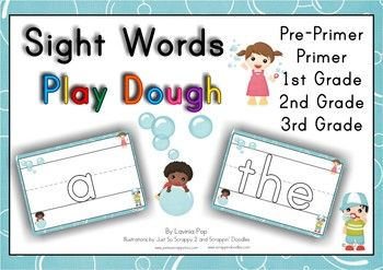 Sight Words (Pre-K to Grade3) Play Dough Mats with lines. So many uses for these. Use with play dough, wikki sticks, for tracing practice... Great classroom visuals too!