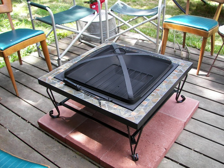 fire pit on wood deck | Outdoors | Pinterest | Fire pits ...