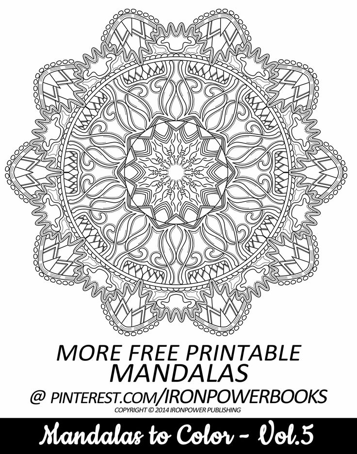This Is A FREE Printable Page From Mandalas To Color