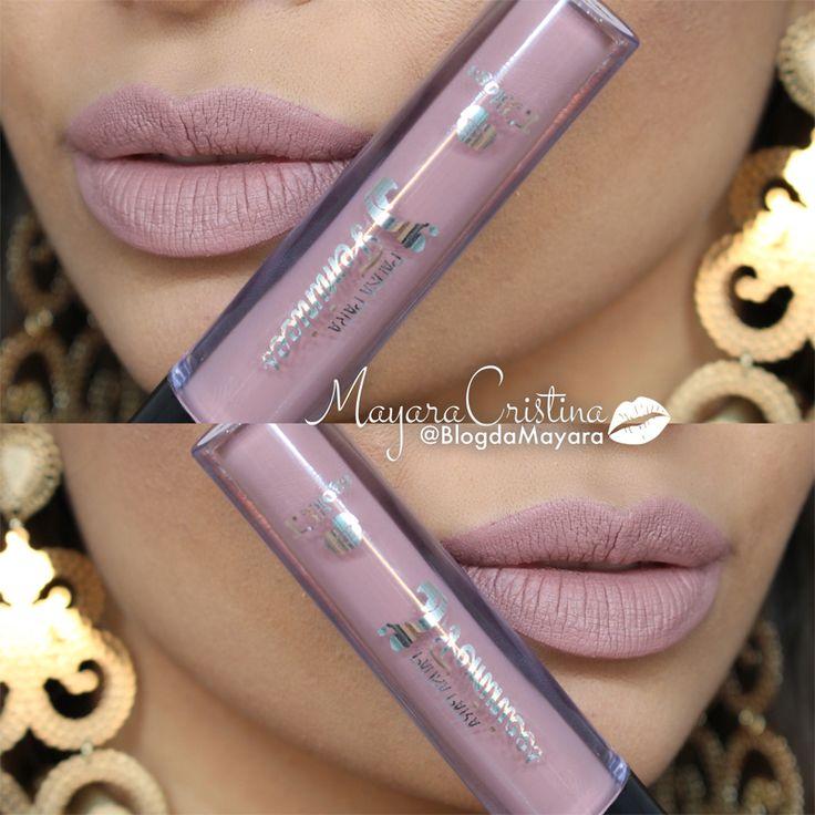 Batom líquido matte GLINDA da coleção Bruna Tavares para TBlogs. Lipstick. Nude. Maquiagem. Por @BlogdaMayara