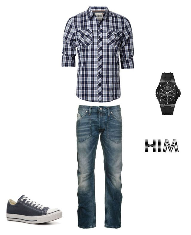 himm by barbaranecho on Polyvore featuring GUESS, Replay and Converse