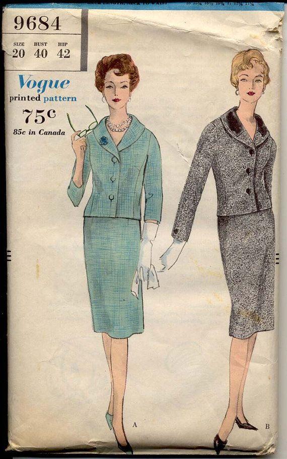 13 best Vintage Office Wear images on Pinterest   1950s fashion ...