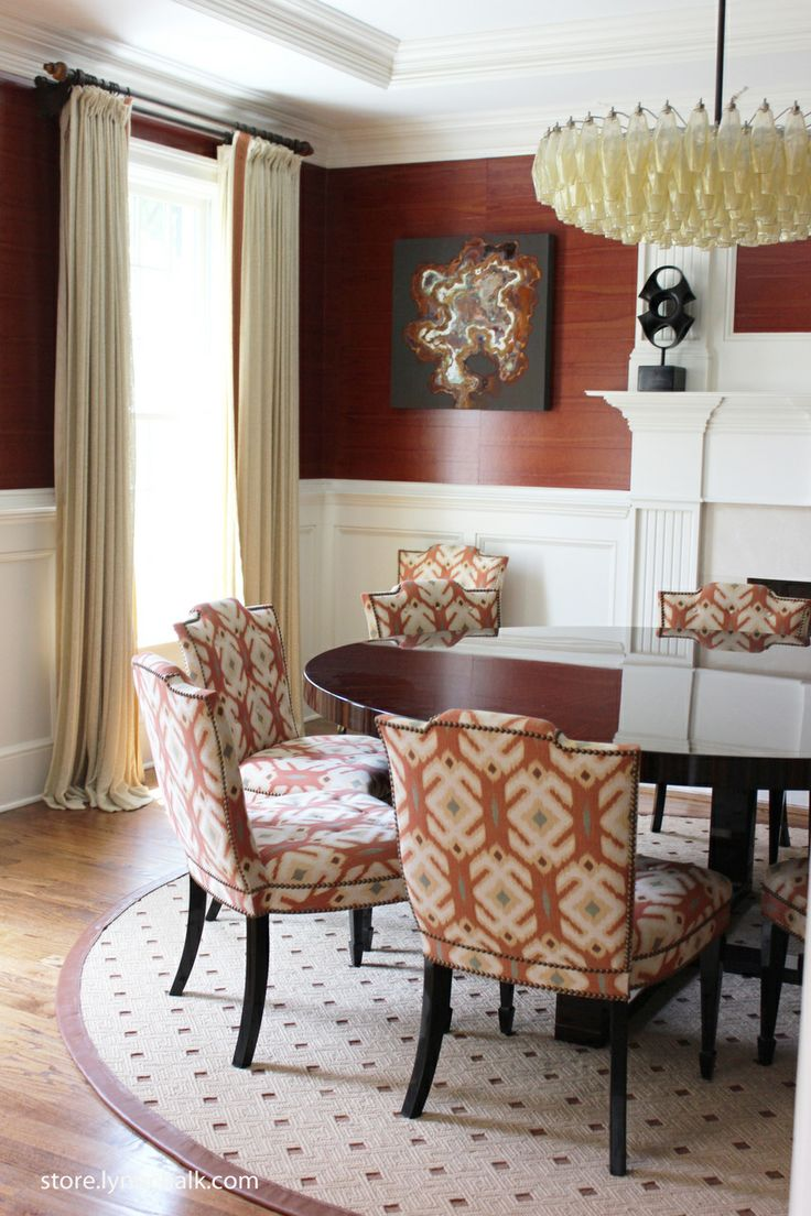 drapes are edged in samuel sons trim dining rooms pinterest