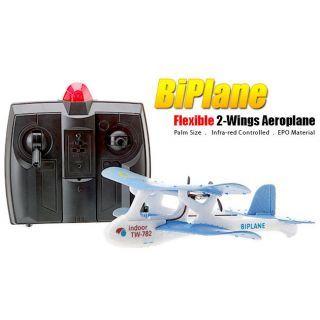 BiPlane TW 782 Micro RC Airplane/Indoor RC Plane (Blue)