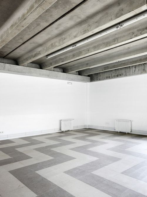 concrete and patterned flooring