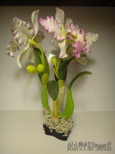 Цветок Катталея из полимерной глины. МК