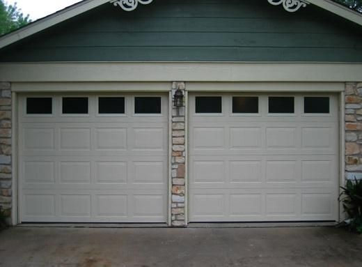 Garage door veneers stone veneer installation regarding for Wood veneer garage doors