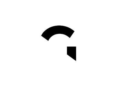 G for gladiator, abstract helmet letter mark icon logo design symbol