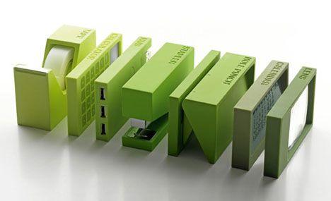 OCD Organizers: Set of 7 Modular Desktop Office Products.  Must get these asap.  Love, love, LOVE THESE!  www.dornob.com