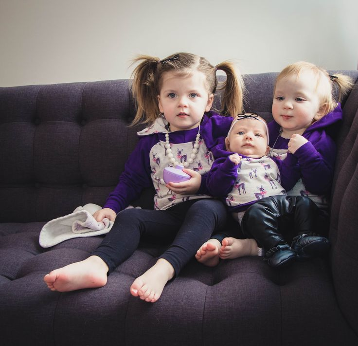 """Tripleting in their Finn & Grin November Hoodie Subscriptions! Come join out Facebook VIP Group """"Finn and Grin VIP"""" to learn all about our subscription. Sizes preemie to 5T"""