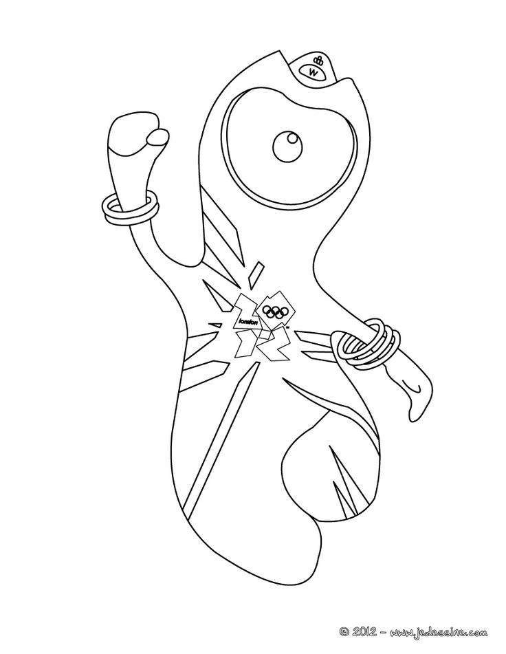 Coloriage de WENLOCK, la mascotte des Jeux Olympiques des Londres 2012
