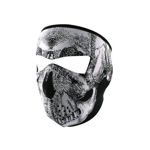 ZANheadgear Neoprene Skull Face Mask (Black/White) http://bikeraa.com/zanheadgear-neoprene-skull-face-mask-blackwhite/