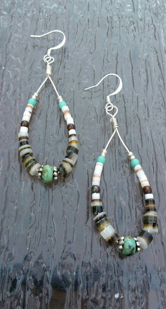 Check out this item in my Etsy shop https://www.etsy.com/listing/241369838/sale-heishi-earrings-african-turquoise