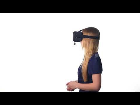 Woman Wearing VR Goggles (Stock Footage)