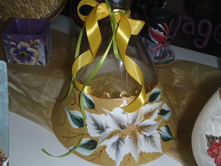 One stroke painting on glass bell www.artvoyage.gr