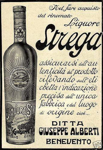 LIQUORE STREGA BENEVENTO ALBERTI BOTTIGLIA 1922