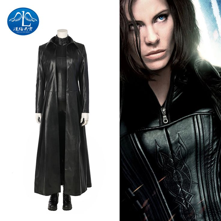ManLuYunXiao 2017 Movie Underworld Selene Women Cosplay Costumes Female Halloween Costume Women's leather jacket