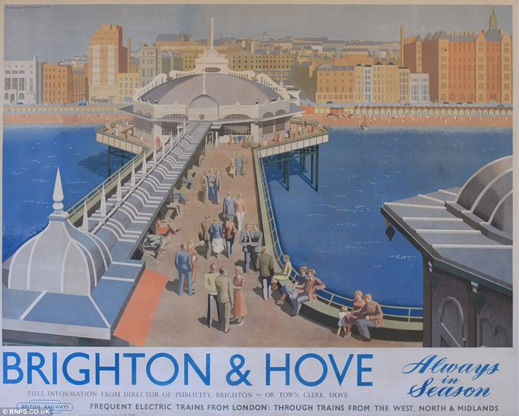 Visit Brighton & Hove: Each of the ten posters discovered by a property developer in a house in Edinburgh is expected to fetch upwards of £1...