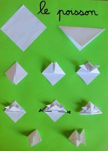 origami poisson et bateau