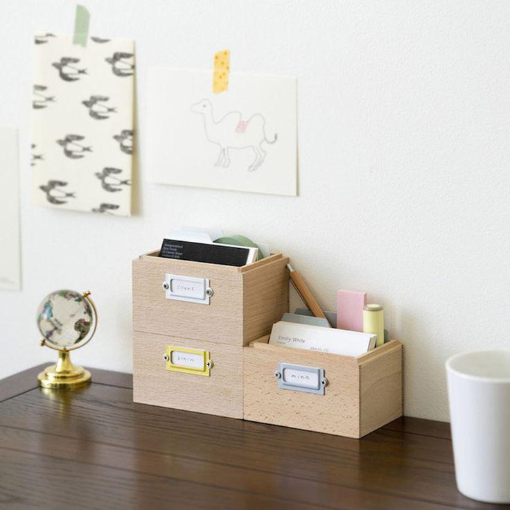 Tsumugi Desk Organizer | Omoi Zakka Shop $32 each
