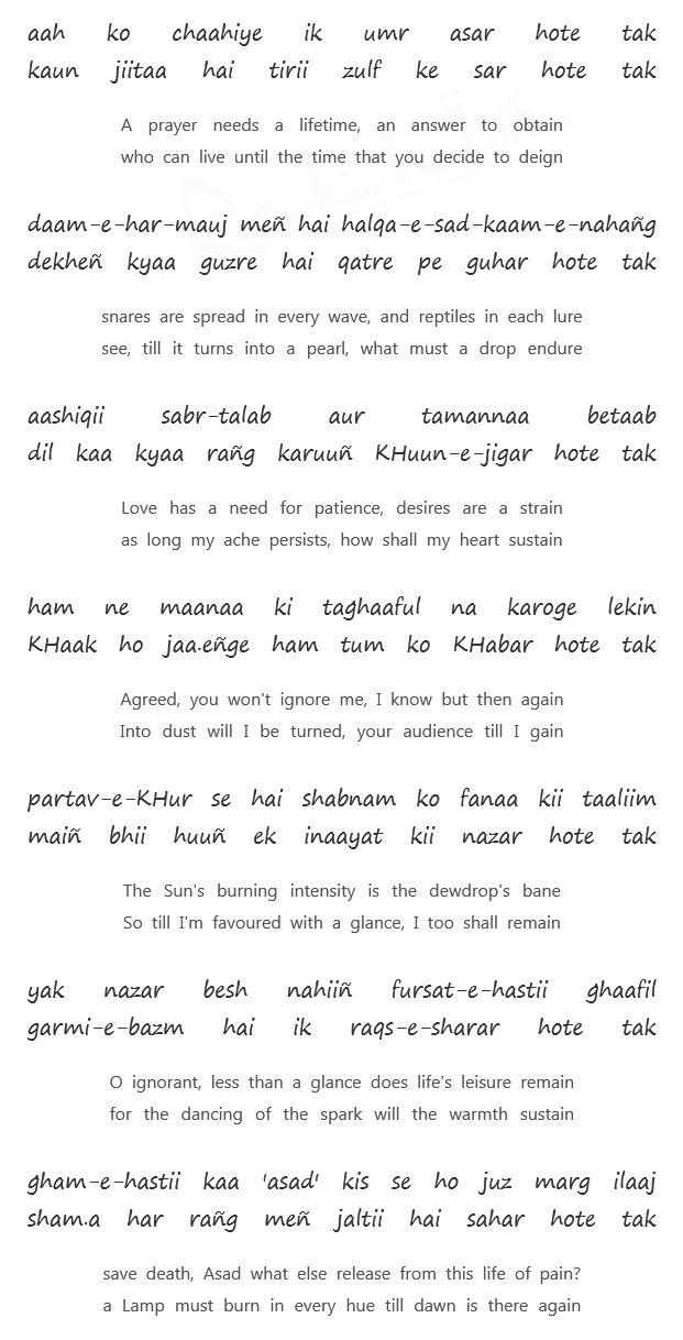 Mirza Ghalib - Aah ko chahiye....