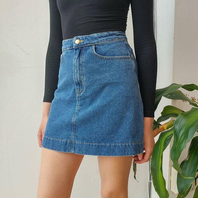 Levi A Line Denim Skirt