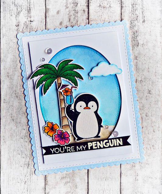 RL Design - Invitatii si felicitari Handmade : My Penguin - MFT Handmade Card