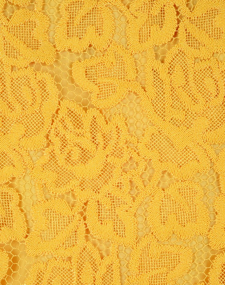 Ici Maintenant - guipure embroidery ochre Swiss made