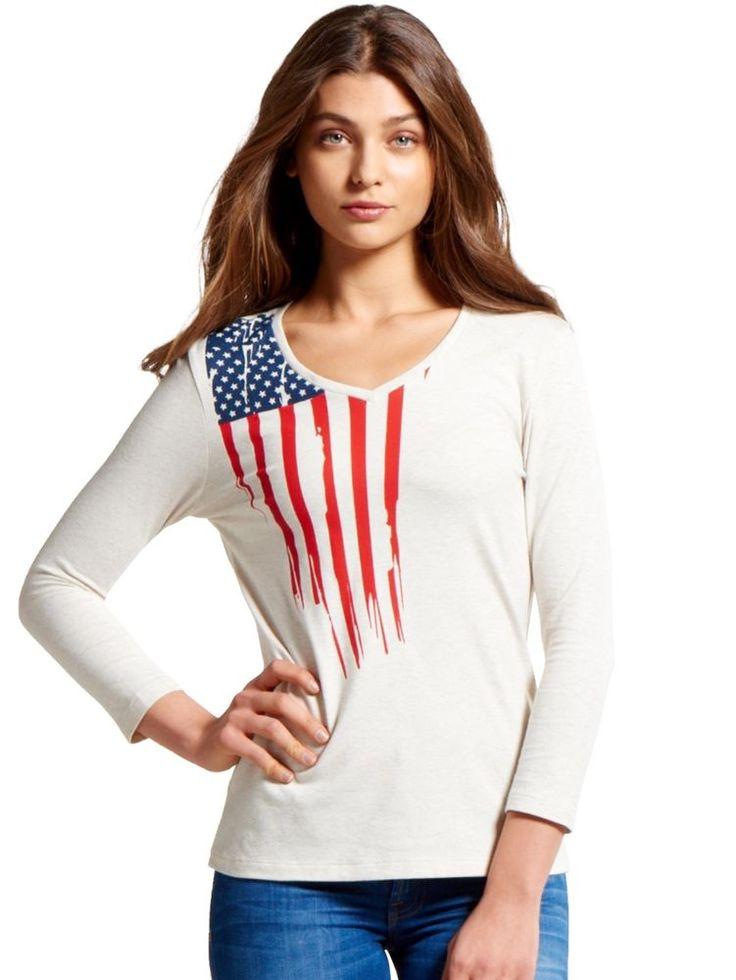 Jockey Women Cream Melange Long Sleeve Cotton T-shirt-Style #UL09 #Jockey