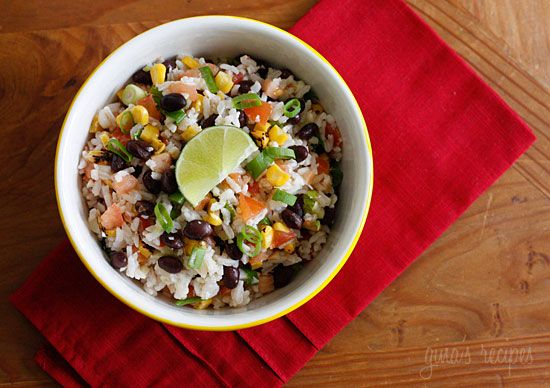 Fiesta Lime Rice. I think I would toss in some avocado at