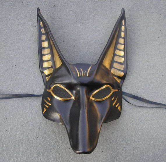 anubis costume   Reserved For Helena...Egyptian God Anubis Leather Mask by teonova