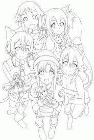 Image result for sword art online coloring pages