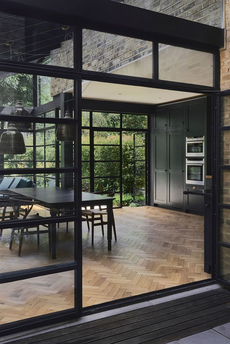 Crittall windows and doors shape the stylish contemporary extension - Decoist