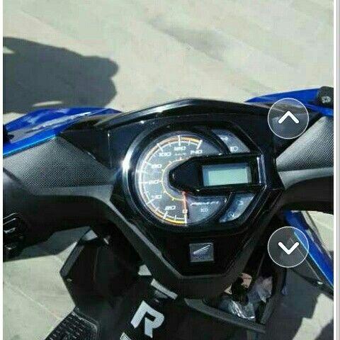 Tampilan motor beat sporty cw dari atas