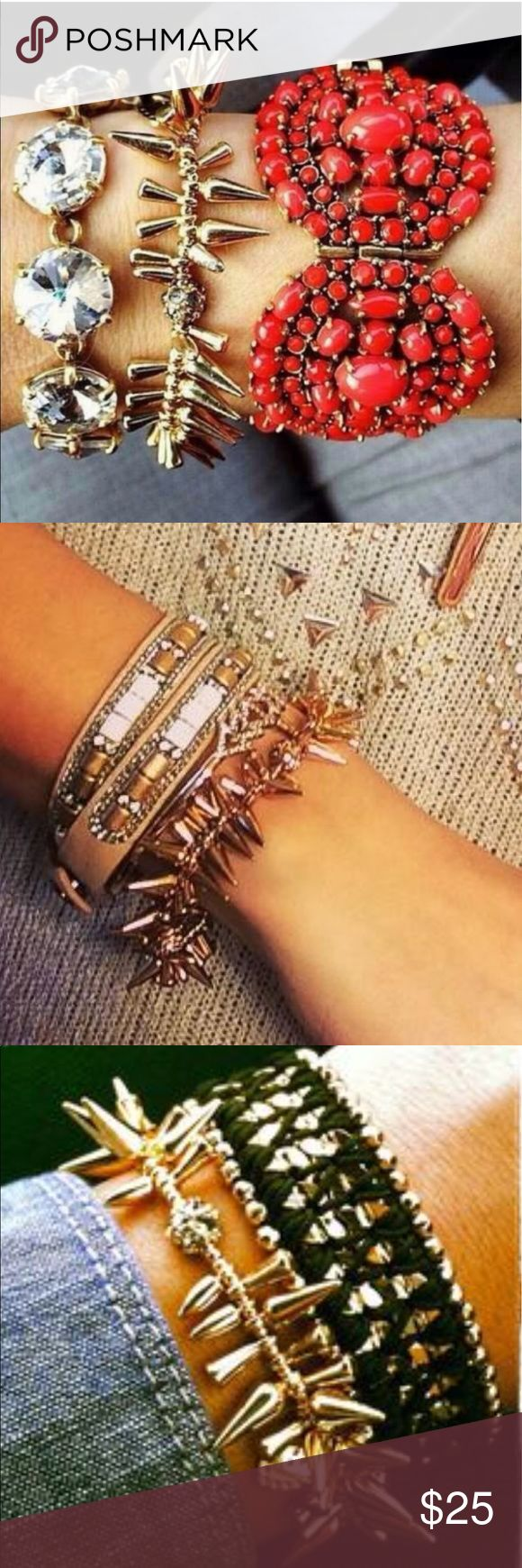 Stella&dot renegade bracelet (nwot) Brand new, comes in Stella bag as shown in photo. Stretchable fit. Price firm unless bundled Stella & Dot Jewelry Bracelets