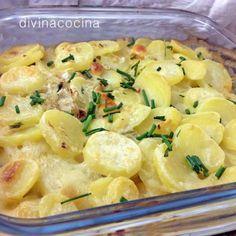 -Gratén de patatas y cebolla rápido